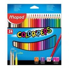 Maped color'peps Цветни моливи 24 цвята