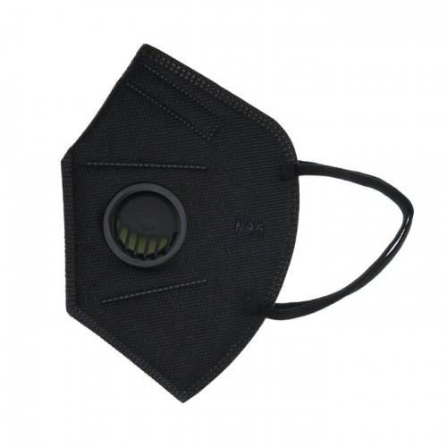 Маска с филтър за многократна употреба, черна