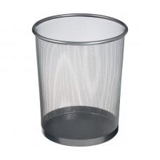 Кош за хартиени отпадъци, метален, мрежест, 12 L, сив