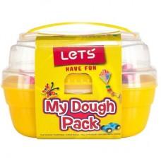 LET'S Комплект пластилин 6 цвята, 6 формички, в куфарче, 450г L-8600
