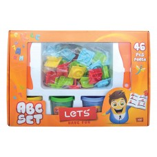 LET'S Комплект Пластилин + формички цифри и букви 48 части L-8437