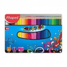 Цветни моливи Maped color'peps 48 цвята в метална кутия