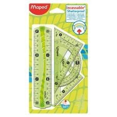 Комплект за чертане MAPED пластични 4 части
