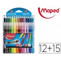 Цветни моливи и флумастери Maped color'peps 15+12 цвята