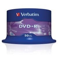 VERBATIM DVD+R 4.7GB 16X оп.50 43550