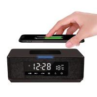 Platinet Колона с часовник, аларма и радио, безжично зареждане 44799