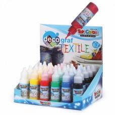 TOY COLOR Текстилна боя за рисуване различни цветове 25 мл