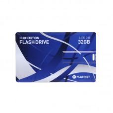PLATINET USB FLASH памет 32GB, 2.0 КРЕДИТНА КАРТА