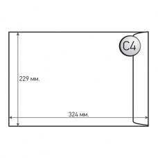 Пощенски плик, C4, 229 x 324 mm, хартиен, със самозалепваща лента, бял, 50 броя