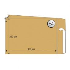 Пощенски плик, Е4, 280 x 400 mm, хартиен, с разширяемо дъно, кафяв, 10 броя