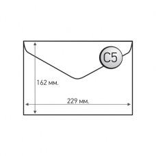 Пощенски плик, C5, 162 x 229 mm, хартиен, с триъгълен капак, бял, 100 броя