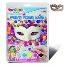TOY COLOR Домино / маска за лице 6 цвята + брокат